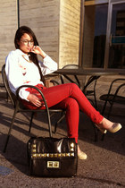 off white Princess heels - red skinny Only jeans