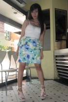 floral TopPicks Couture skirt - San-Sue bag - Toes & Straps wedges