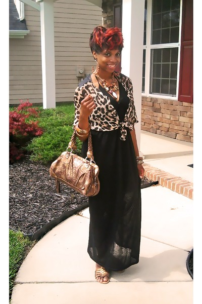 Black Maxi Dresses, Bronze Metallic Guess Purses, Camel Animal ...