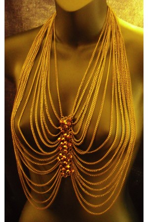 vest - necklace - beaded vest accessories