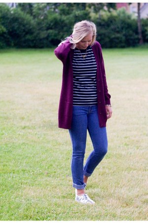 JDY cardigan - H&M jeans - Yesstyle shirt - H&M sneakers