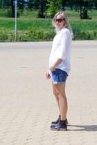 H&M shirt - mag boots - H&M shorts
