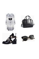 Choies boots - Choies dress - Choies bag - Choies sunglasses