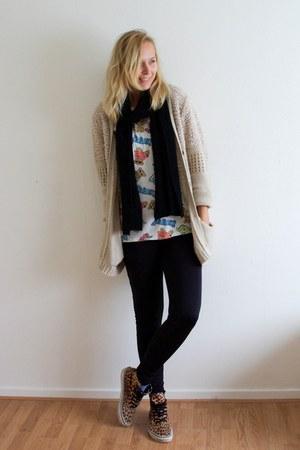 PERSUNMALL shirt - Vans shoes - Vila leggings - PERSUNMALL scarf