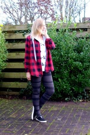 Only shirt - pieces leggings - Choies hoodie - Ebay sneakers