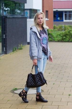 Lovelywholesale shirt - Choies boots - esmara jeans - Lovelywholesale bag