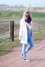 Periwinkle-yesstyle-sweater-white-yestyle-coat-light-blue-vila-jeans