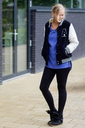 Action jacket - Yesstyle sweater - Vila leggings - Ebay sneakers