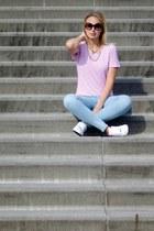 esmara jeans - thrift shirt - nike sneakers