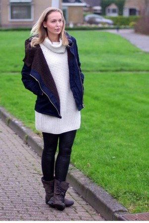 mjus boots - Lovelywholesale jacket - Vila sweater - Rosegal leggings