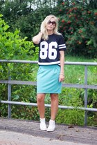 Lovelywholesale shirt - Hema skirt - Converse sneakers