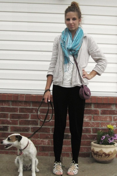 black Coldwater Creek pants - white Urban Outfitters shoes - white Old Navy shir