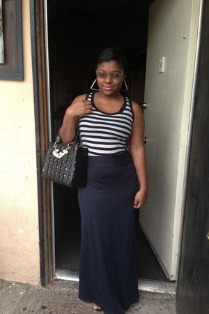 black Old Navy top - black Tashe skirt