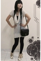 random top - random leggings - Charles & Keith shoes - Gobellini purse