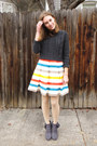 Gray-modcloth-boots-ivory-striped-modcloth-dress