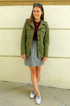 olive green madewell jacket - maroon JCrew Factory sweater