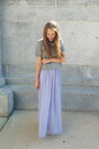 Light-purple-modcloth-dress-heather-gray-madewell-t-shirt