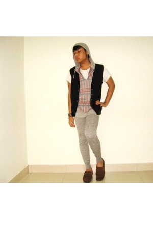 Zara top - Topman vest - Zara shoes