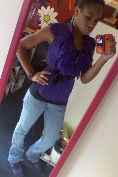 walmart  miley cyrus blouse - Aeropostale shirt - Blowfish shoes - hollister jea