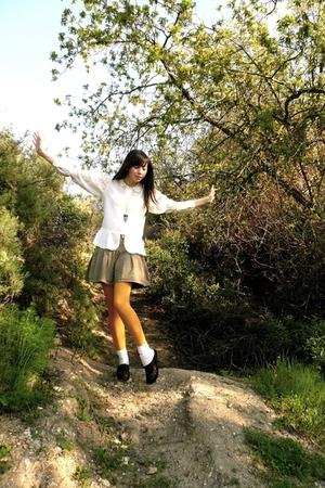 blouse - Gap skirt - Macys tights - shoes