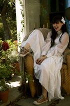 accessories - Gunne Sax dress - Converse shoes