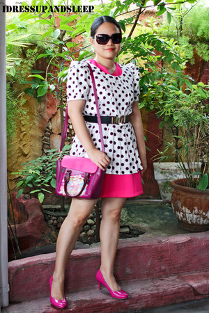 pink Never Been Kissed dress - sling Brera Art Lab bag - Payless pumps