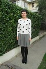 White-forever-21-sweater-black-target-tights-black-thrifted-vintage-skirt