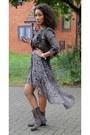 Black-2nu-dress-dark-brown-2nu-jacket