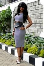 River Island belt - 2NU dress - Zara heels