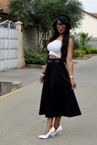 black 2NU skirt - white Primark top - white 2NU heels