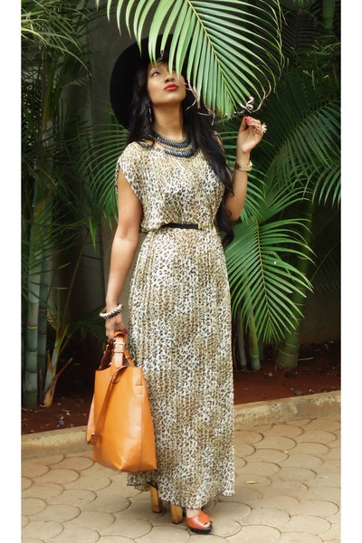 tawny Zara shoes - brown new look dress - black new look belt