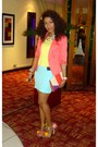 Aquamarine-2nu-skirt-salmon-h-m-blazer-light-yellow-2nu-top