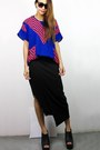 Blue-2amstyles-top-black-2amstyles-skirt
