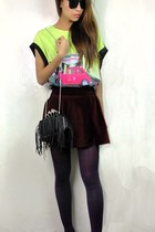 2amstyles t-shirt - black 2amstyles purse - velvet knife 2amstyles skirt