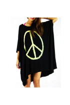 Oversize Peace Symbol Tee Dress