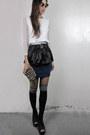 Navy-slim-cotton-2amstyles-shirt-black-2amstyles-bag