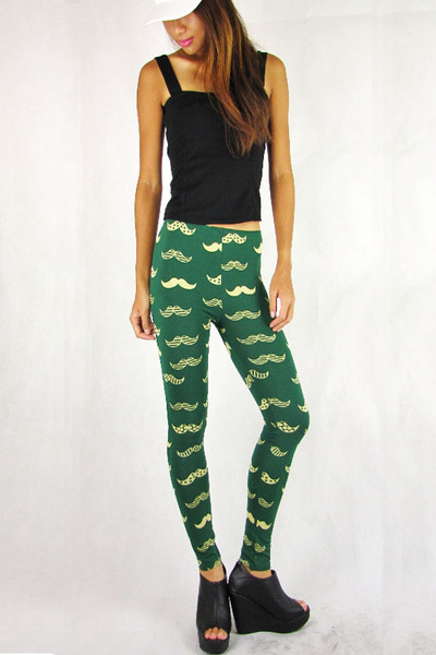 off white studs cap 2amstyles hat - green moustache 2amstyles leggings