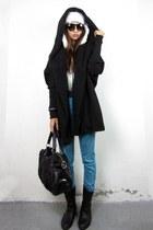 black eskimo 2amstyles hat - 2amstyles bag - 2amstyles cardigan