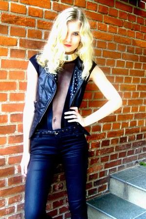 Only vest - pieszak jeans - American Apparel bodysuit