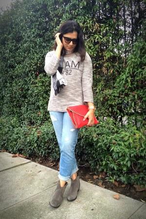 gray Pretty Nana boots - blue piper Ariana Goldschmied AG jeans