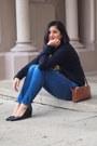 Blue-stilt-ag-ariana-goldschmied-jeans-camel-crossbody-ralph-lauren-bag