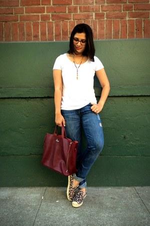 crimson Nardelli bag - blue josefina Seven For All Mankind jeans