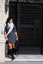 charcoal gray TRIVER FLIGHT boots - dark gray madewell dress