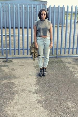 Topshop boots - Topshop jeans - H&M jacket