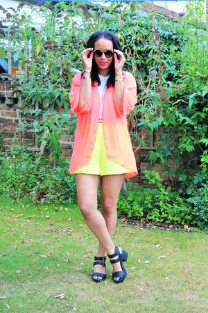 H&M jacket - asos shorts - Primark top