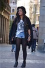 Black-h-m-hat-black-d-g-blazer-sky-blue-pepe-jeans-shorts