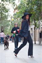 black H&M hat - D&G blazer - white Zara shirt - Zara pants