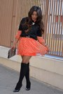 Burnt-orange-banana-republic-dress-black-mango-sweater