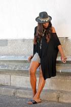 black H&M blouse - silver H&M skirt