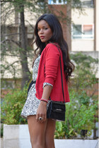 red Zara cardigan